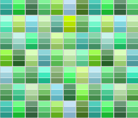paint chips - greens and teals fabric by weavingmajor on Spoonflower - custom fabric