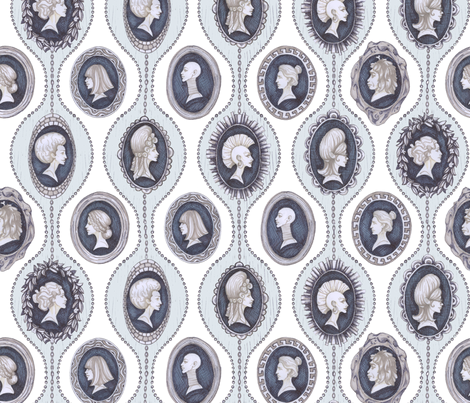 Hair of an Era fabric by ceanirminger on Spoonflower - custom fabric