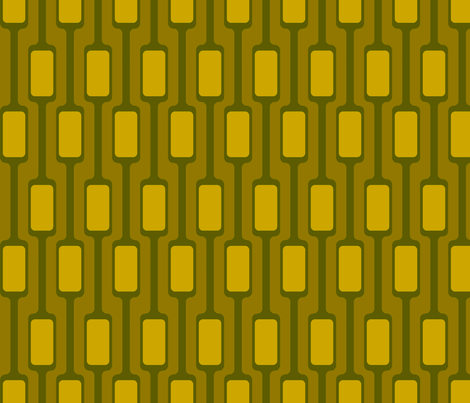 Yellow Mod Pods fabric by brainsarepretty on Spoonflower - custom fabric