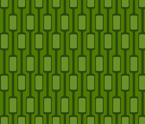 Green Mod Pods fabric by brainsarepretty on Spoonflower - custom fabric