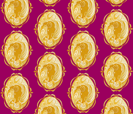 Cameo fabric by morningloridesigns on Spoonflower - custom fabric