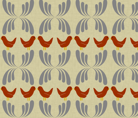 Dear my bird fabric by blingmoon on Spoonflower - custom fabric