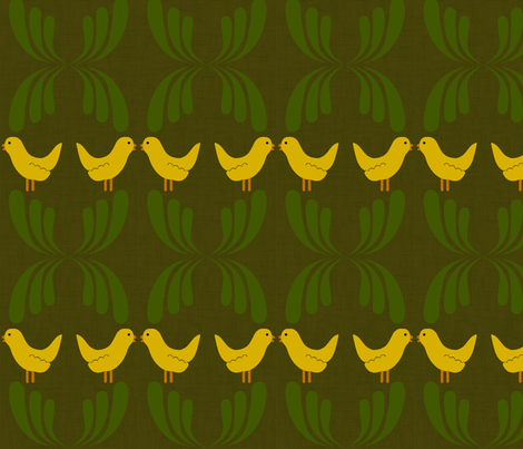 Dear my bird fabric by jshin on Spoonflower - custom fabric
