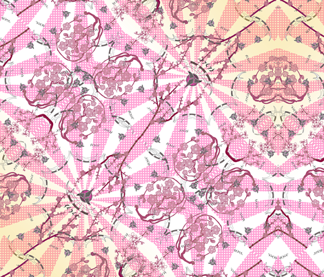 Kaplah in the East whilst watching the Sakura... fabric by retropopsugar on Spoonflower - custom fabric