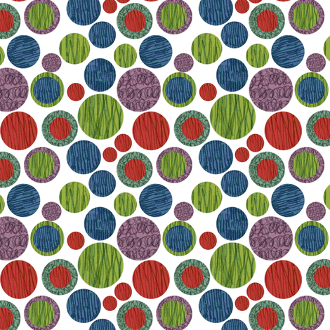 Christmas Doodle Dots fabric by gsonge on Spoonflower - custom fabric