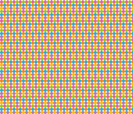 Pastel Rainbow dots in yellow purple green blue pink and orange fabric by samvanvoorst on Spoonflower - custom fabric
