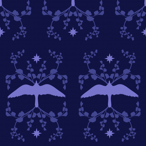 Fancy Blue Bird fabric by brainsarepretty on Spoonflower - custom fabric