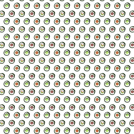 Polka Dot Sushi fabric by pi-ratical on Spoonflower - custom fabric