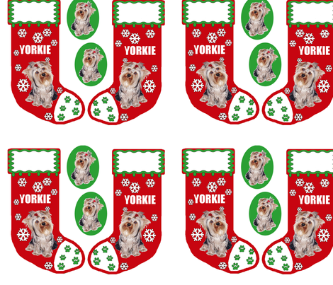 yorkie_christmas_stocking fabric by dogdaze_ on Spoonflower - custom fabric