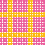 Pink and Yellow Dot print