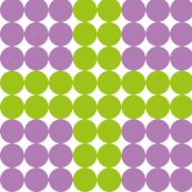 Purple dots with green lines.
