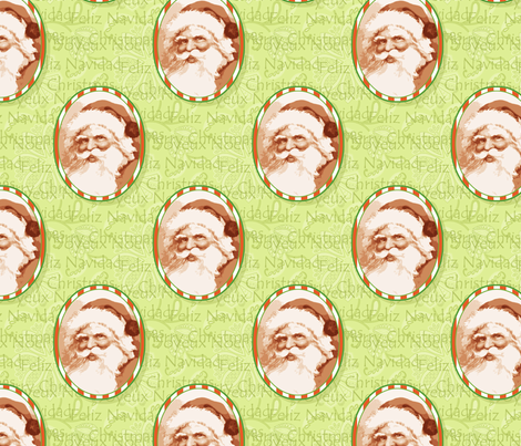 Cameo St Nicholas fabric by littlerhodydesign on Spoonflower - custom fabric