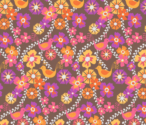 Bird Floral fabric by kezia on Spoonflower - custom fabric