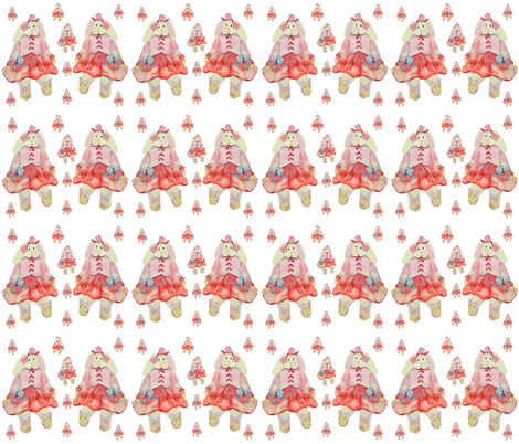 Bunny Surprise fabric by karenharveycox on Spoonflower - custom fabric