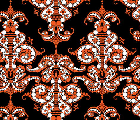 Putting a point on it - Orange and Black fabric by thirdhalfstudios on Spoonflower - custom fabric