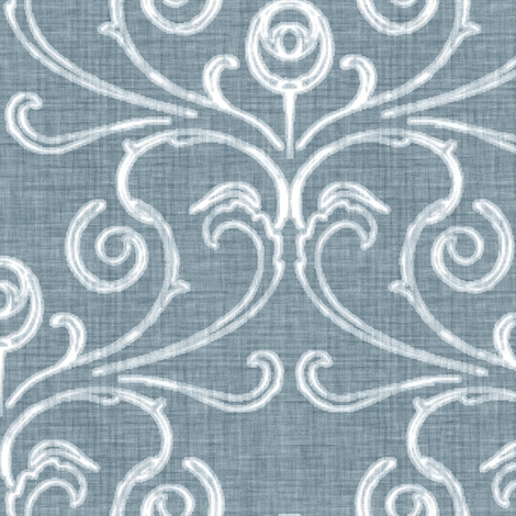 Faded French Rose - Blue