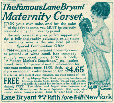 1918 Maternity Corset Advertisement