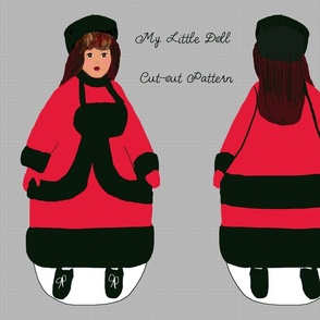 My LIttle Doll cut-out pattern