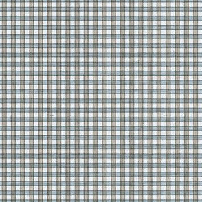 Faded French Check - blue