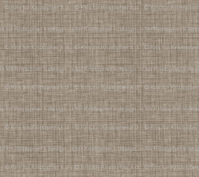 Faded French Linen - Brown