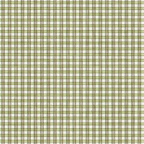 Faded French Check - Green