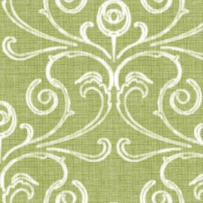 Faded French Rose - Green