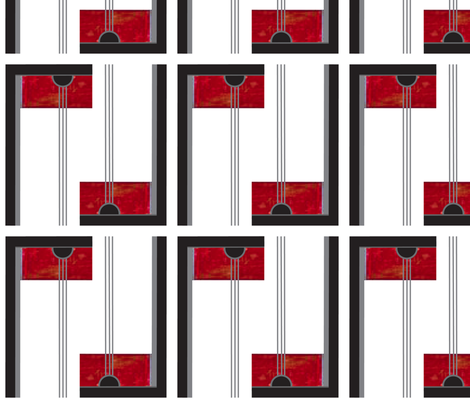 Deco_red_door_2 fabric by pad_design on Spoonflower - custom fabric