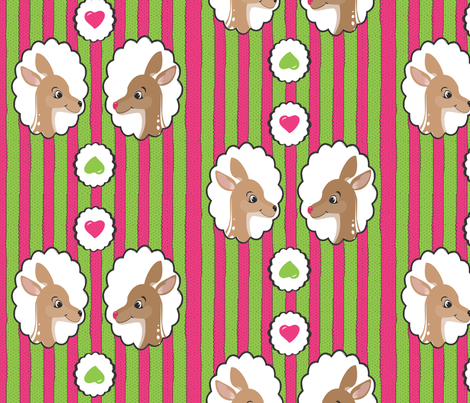 Rudolph Gift Wrap fabric by wendyg on Spoonflower - custom fabric