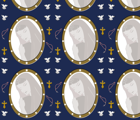 The Virgin fabric by brandymiller on Spoonflower - custom fabric