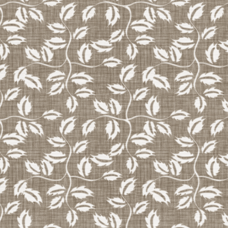 Faded French Rose Leaves - Brown