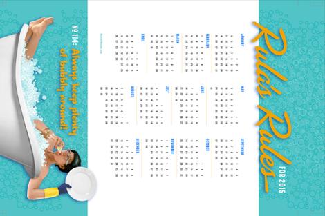 Rula's Rules #114 calendar towel fabric by monmeehan on Spoonflower - custom fabric