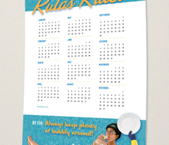 Rula's Rules #114 calendar towel