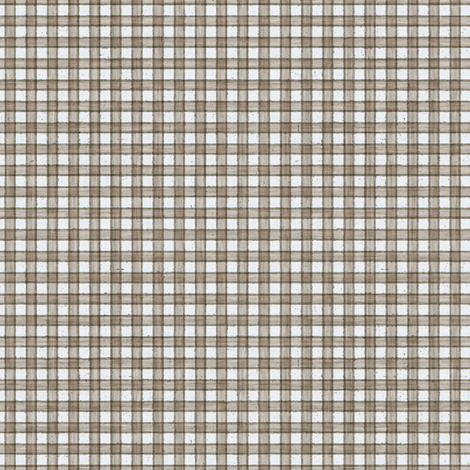Faded French Check - Brown