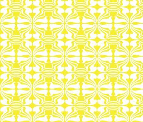 Stems_Mustard fabric by dolphinandcondor on Spoonflower - custom fabric