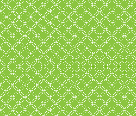 christmas_butterfly_circles_green_fill fabric by wendyg on Spoonflower - custom fabric