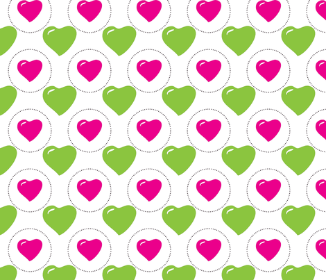 christmas_hearts fabric by mainsail_studio on Spoonflower - custom fabric