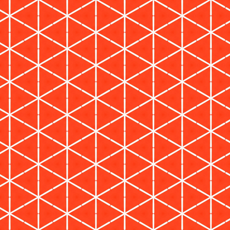 Retro Orange Triangles fabric by stoflab on Spoonflower - custom fabric