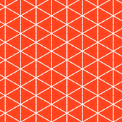 Retro Orange Triangles