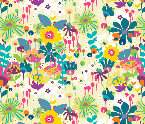 Bloom 3 fabric by yuyu on Spoonflower - custom fabric