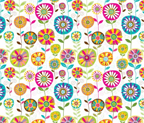 Bloom 5 fabric by yuyu on Spoonflower - custom fabric