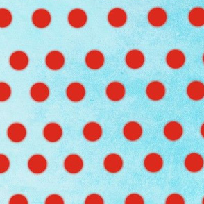 Handmade Red and Blue Sky Polka dots