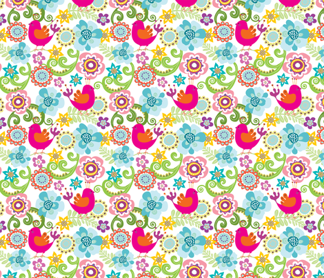 Chirpy 1 fabric by thepatternsocial on Spoonflower - custom fabric