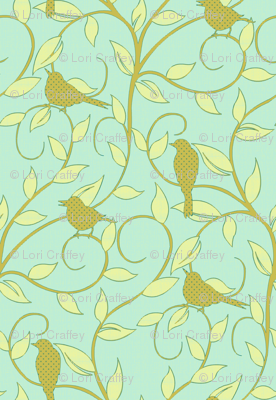 serene songbird aqua
