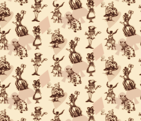 Wonderland fabric by urban_threads on Spoonflower - custom fabric