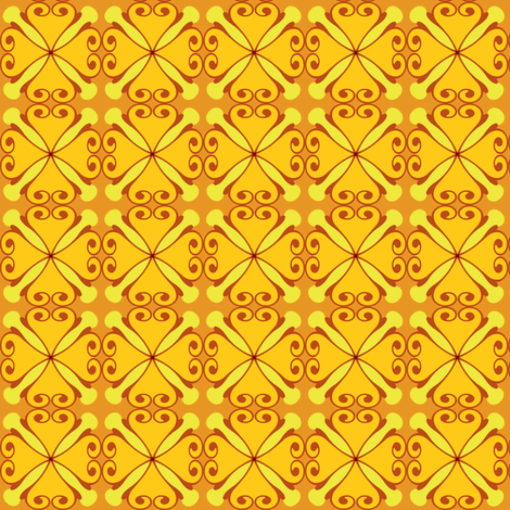 sunflower fabric by lilliblomma on Spoonflower - custom fabric