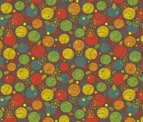 Bowling coordinate - retro fabric by jennartdesigns on Spoonflower - custom fabric