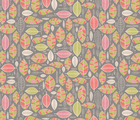 Leaf Study fabric by alisontauber on Spoonflower - custom fabric