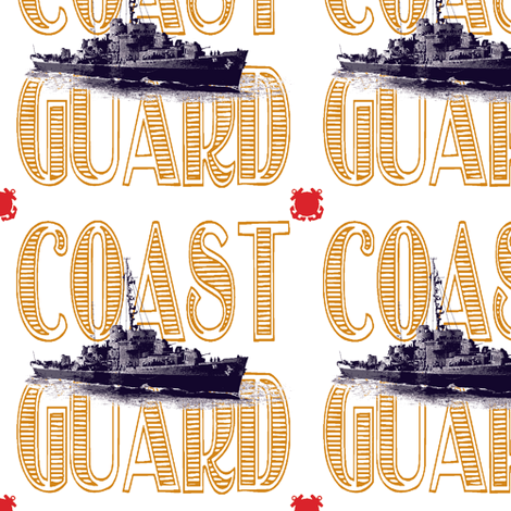 Semper paratus - always ready - USCGC Taney fabric by georgeandgracie on Spoonflower - custom fabric