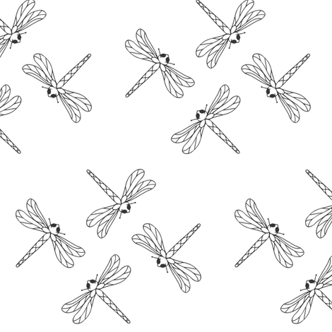 dragonfly_group_master fabric by michelle_zollinger_tams on Spoonflower - custom fabric