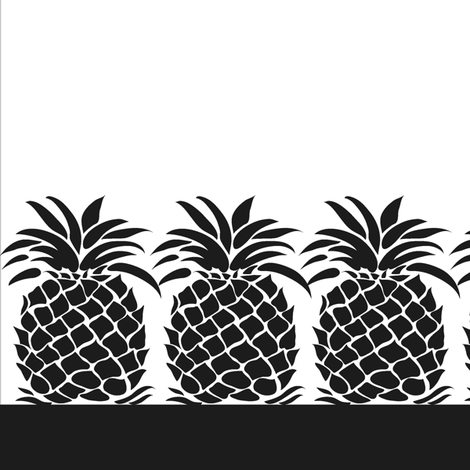 Pineapple Napkin - Black fabric by dianne_annelli on Spoonflower - custom fabric